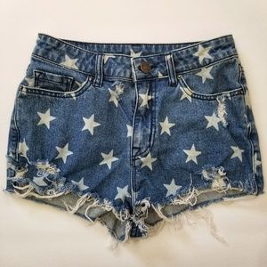 BDG Urban Outfitters Star Denim Shorts 26